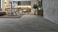 Feinsteinzeug Bodenfliese Concrete Light Grey Matt R10