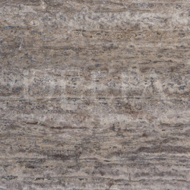 Silver travertine filled